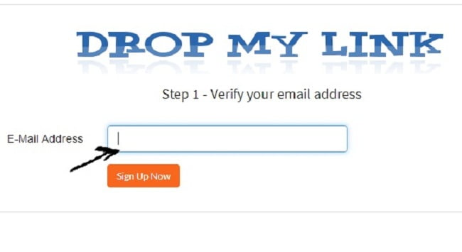 Dropmylink enter email