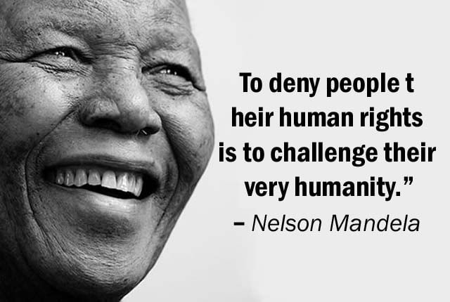Human rights quotes nelson Mandela